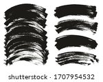 flat paint brush thin curved...   Shutterstock .eps vector #1707954532