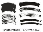 flat paint brush thin curved... | Shutterstock .eps vector #1707954562