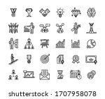 business success icons set....   Shutterstock .eps vector #1707958078