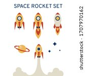 set of rockets on a white...   Shutterstock .eps vector #1707970162