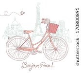 riding a bike in style ... | Shutterstock .eps vector #170800895