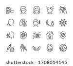 covid 19 or coronavirus... | Shutterstock .eps vector #1708014145