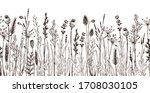 seamless horizontally border... | Shutterstock .eps vector #1708030105
