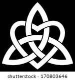 3 point celtic trinity knot ... | Shutterstock .eps vector #170803646