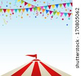 illustration circus striped... | Shutterstock .eps vector #170805062