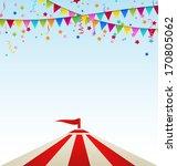 illustration circus striped... | Shutterstock .eps vector #170805062