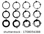 circular arrows  looped  black  ... | Shutterstock .eps vector #1708056388