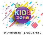 kids zone banner template.... | Shutterstock . vector #1708057552