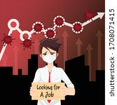 jobless and economic depression ... | Shutterstock .eps vector #1708071415