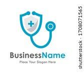 doctor shield vector logo...   Shutterstock .eps vector #1708071565