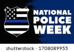 national police week....   Shutterstock .eps vector #1708089955