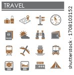 travel related icons set on... | Shutterstock .eps vector #1708103152