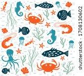 Sea And Fish Seamless Pattern....