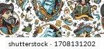 pirates. seamless pattern....   Shutterstock .eps vector #1708131202