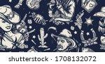 wild west seamless pattern.... | Shutterstock .eps vector #1708132072