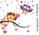 card funny owls declaration of... | Shutterstock .eps vector #170814035
