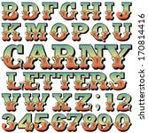 an alphabet sit of carnival