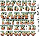 an alphabet sit of carnival ... | Shutterstock .eps vector #170814416