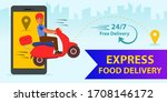 online home delivery concept.... | Shutterstock .eps vector #1708146172