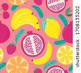 hand drawn cute seamless... | Shutterstock .eps vector #1708155202
