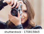 portrait of a pretty young... | Shutterstock . vector #170815865