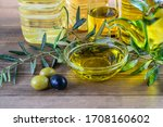 Olive Oil Bottles And Glass...