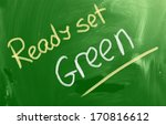 ready set green concept | Shutterstock . vector #170816612