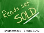 ready set sold concept | Shutterstock . vector #170816642