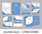 corporate identity template... | Shutterstock .eps vector #1708233382
