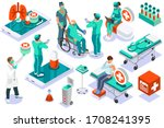 clinic of medical health  woman ... | Shutterstock .eps vector #1708241395