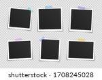 vector photo frame mockup... | Shutterstock .eps vector #1708245028