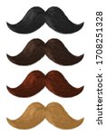 realistic color moustaches.... | Shutterstock .eps vector #1708251328