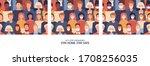 vector set of seamless patterns....   Shutterstock .eps vector #1708256035