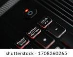 power button on laptop gamer... | Shutterstock . vector #1708260265