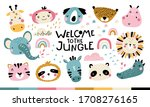 tropical africa set. welcome to ...   Shutterstock .eps vector #1708276165
