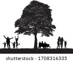 family peopel silhouettes in... | Shutterstock .eps vector #1708316335
