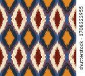 ikat border. geometric folk...   Shutterstock .eps vector #1708323955