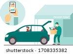 order groceries online. pick up ... | Shutterstock .eps vector #1708335382