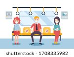 social distancing concept  for... | Shutterstock .eps vector #1708335982