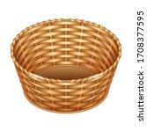 basket vector icon. realistic... | Shutterstock .eps vector #1708377595