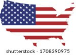 Vector Illustration Of Usa Map...