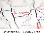 Small photo of Du Quoin. Illinois. USA on a geography map.