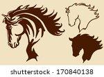 Stock vector head of horse 170840138