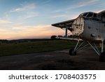 Beautiful old biplane against...
