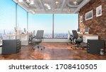 modern office interior. 3d...   Shutterstock . vector #1708410505