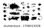 set of blots. black spots of... | Shutterstock .eps vector #1708413328