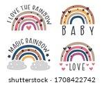 set of isolated nursery... | Shutterstock .eps vector #1708422742