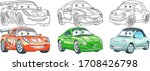 clip art cars. transport set... | Shutterstock .eps vector #1708426798