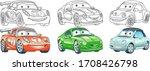 clip art cars. transport set...