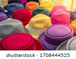 Multi Colored Hats Of Different ...